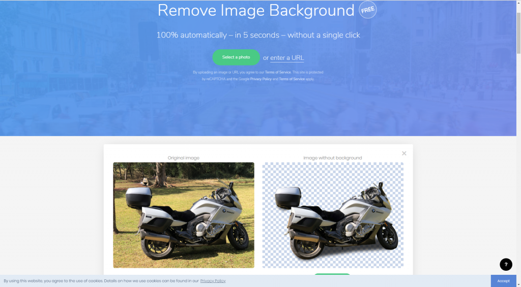 Remove Image Background BMW K1600GT